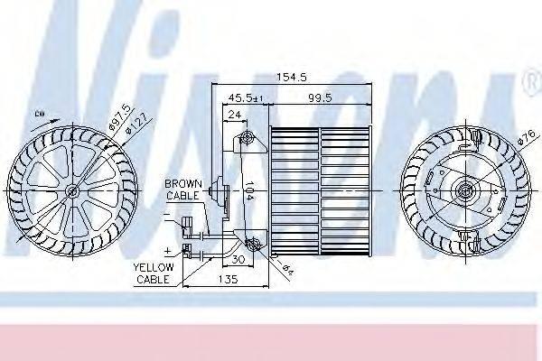 Вентилятор салона NISSENS 87057