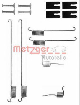 Комплектующие, тормозная колодка METZGER 105-0829